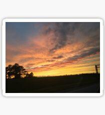 Lejeune Sunset Sticker