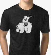 Cowboy Bear - Alternative Tri-blend T-Shirt