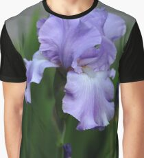 Sweet Blue Orchid Iris Graphic T-Shirt