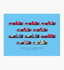 F1 World Champions 2000s - Blue Photographic Print