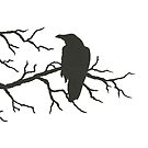 Crow on Branch by Danielle Dewees