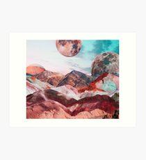 Leben auf dem Mars Kunstdruck