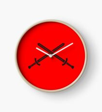 Swords of knighthood Clock