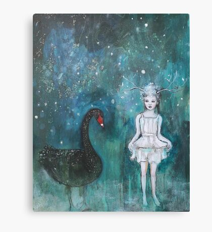Black Swan, Guide Me To Morning Canvas Print