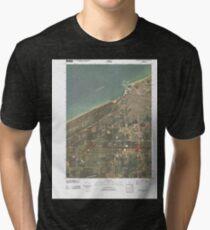 Camiseta de tejido mixto USGS TOPO Map Indiana IN Michigan City West 20100609 TM
