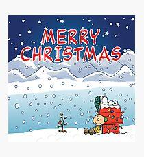 Merry Christmas Charlie Brown Photographic Print