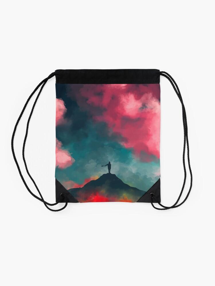 Alternate view of Anxieties Away Drawstring Bag