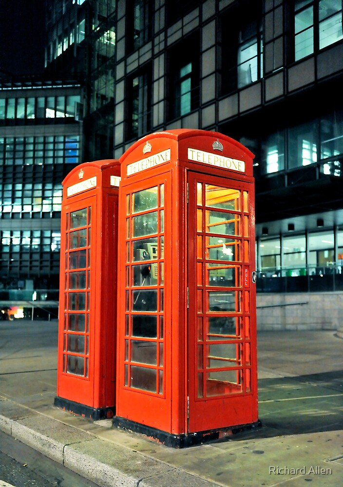 Red Telephone Boxes by Lea Valley Photographic