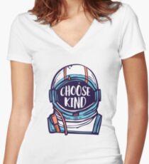 Choose Kind / Be Kind Women's Fitted V-Neck T-Shirt