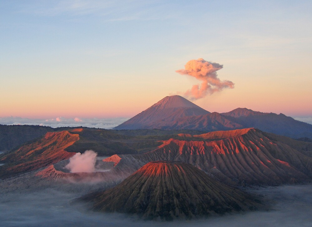mount bromo, java, indonesia by Peter  Middleton