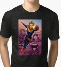 Strong Female Super Hero Tri-blend T-Shirt