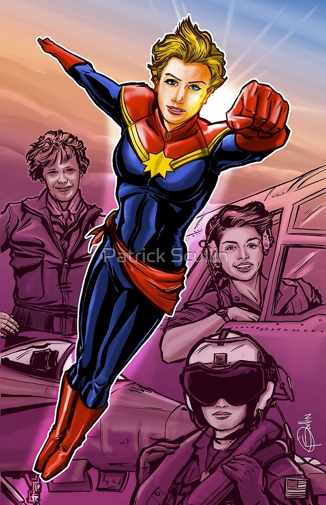 Strong Female Super Hero by Patrick Scullin