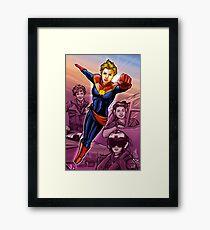 Strong Female Super Hero Framed Print