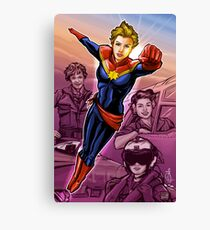 Strong Female Super Hero Canvas Print
