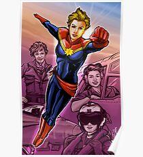 Strong Female Super Hero Poster