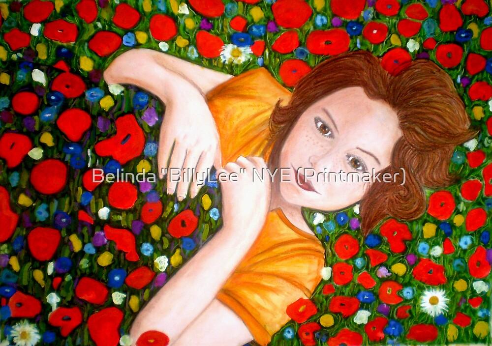 """Beautiful """"Poppy"""" Girl by Belinda """"BillyLee"""" NYE (Printmaker)"""