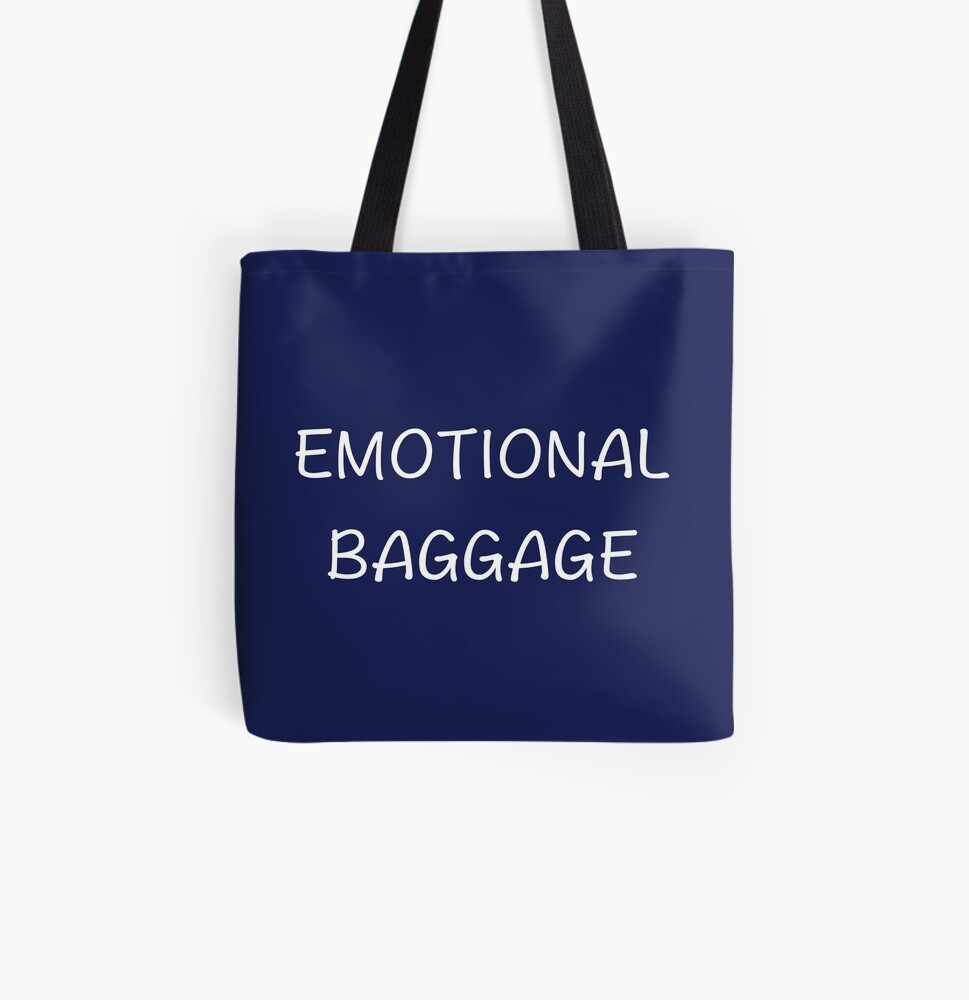Emotional Baggage All Over Print Tote Bag