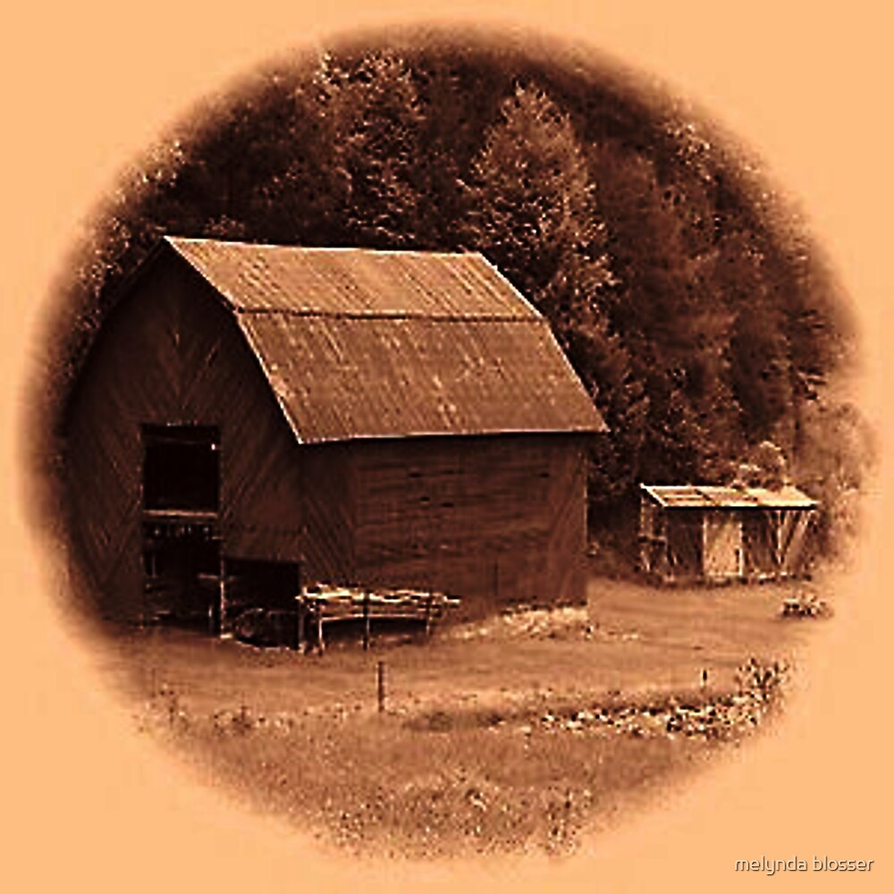 old barn by melynda blosser