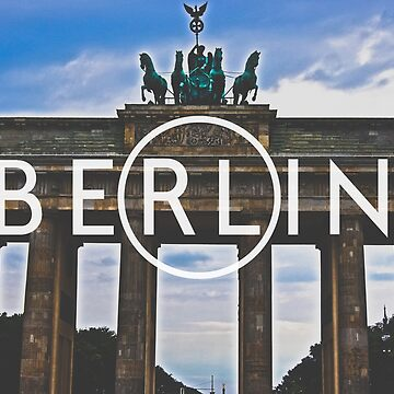 Berlin Typography Print by AndAndy