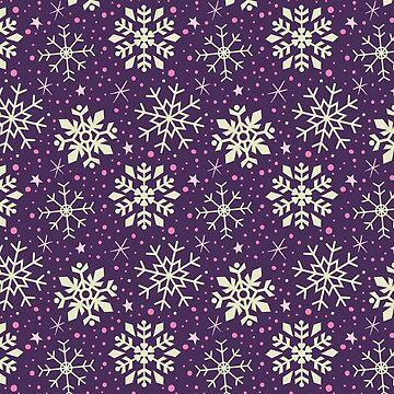 Christmas Snowflake Pattern (Purple) by KristyKate