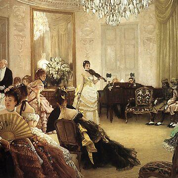Vintage James Tissot Hush 1875 Fine Art by AllVintageArt