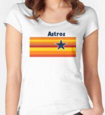 Houston Astros rainbow uniform Women's Fitted Scoop T-Shirt
