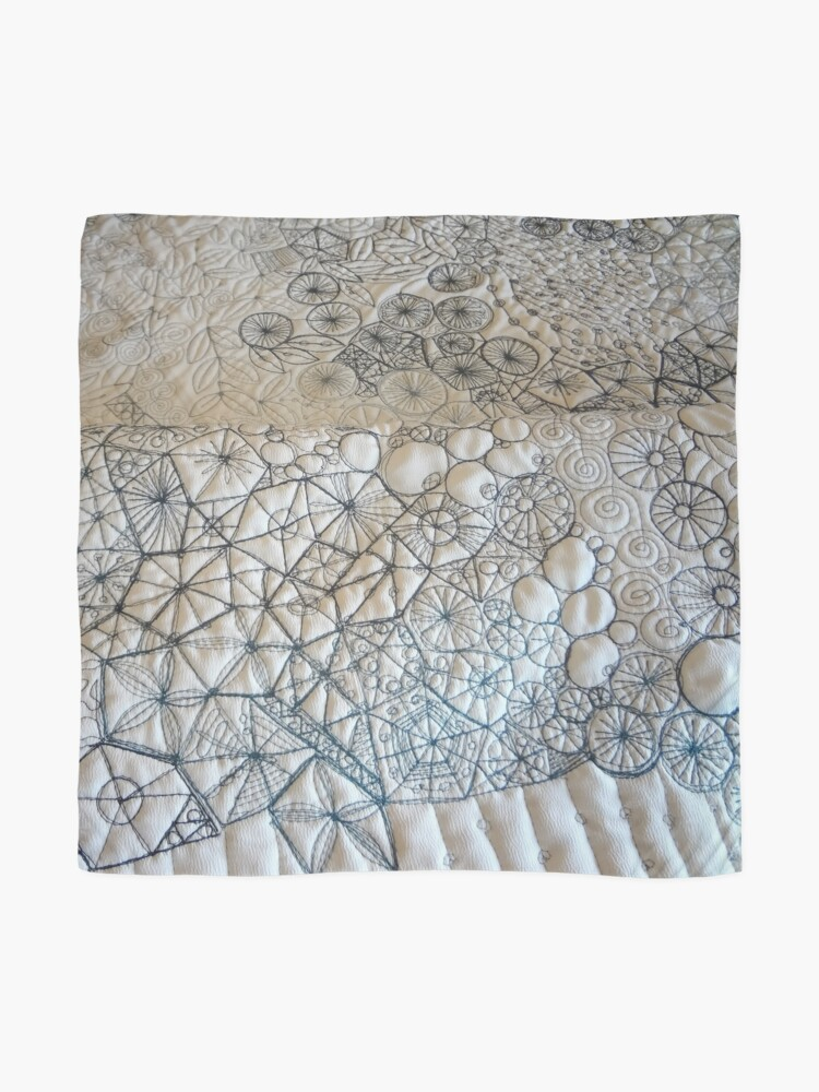 Alternate view of Rockpool - White #7 Scarf