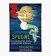 1920 Italian Mermaid Advertising Poster Photographic Print