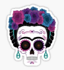 Pegatina Frida Kahlo Sugar skull