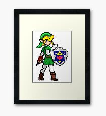 Legend of Zelda - Link Pokemon Trainer Pixel Framed Print