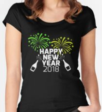 Happy new year's eve celebration fun graphic Tee for your New Year's Eve party. Women's Fitted Scoop T-Shirt