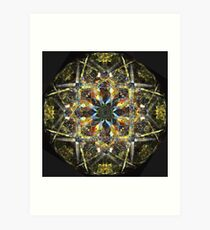 Glass Mandala Art Print