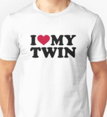 I love my twin Unisex T-Shirt