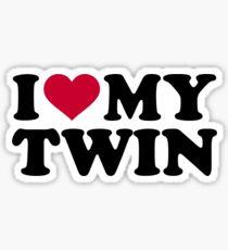 I love my twin Sticker