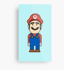 Mario Bros - Videogame Metal Print