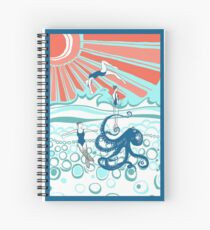 Mermaids and Octopus - colour Spiral Notebook