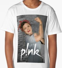 pink - groom, asleep, and the body of his bride beside him, almost Long T-Shirt