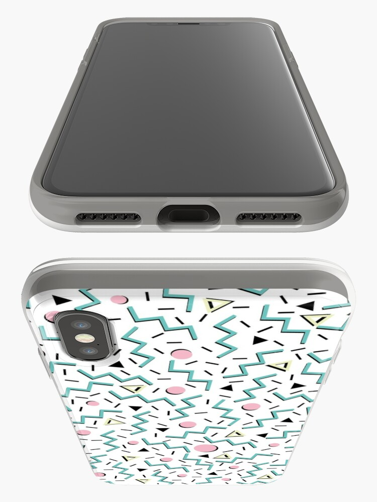 Alternate view of Back to the 80's eighties, funky memphis pattern design iPhone Case & Cover