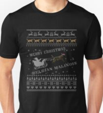 Belgian Malinois Ugly Christmas Sweater T-Shirt