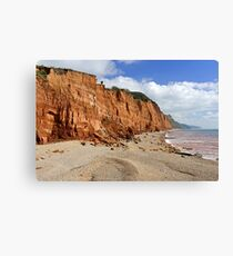 Salcombe Hill Cliff, Sidmouth Canvas Print