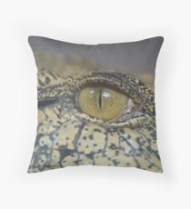 Crocodile Eye Throw Pillow