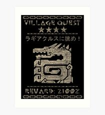 Village Quest - Lagiacrus Art Print