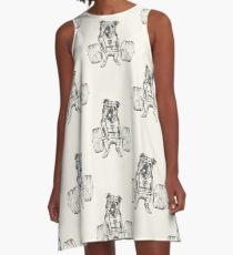 English Bulldog Lift A-Line Dress