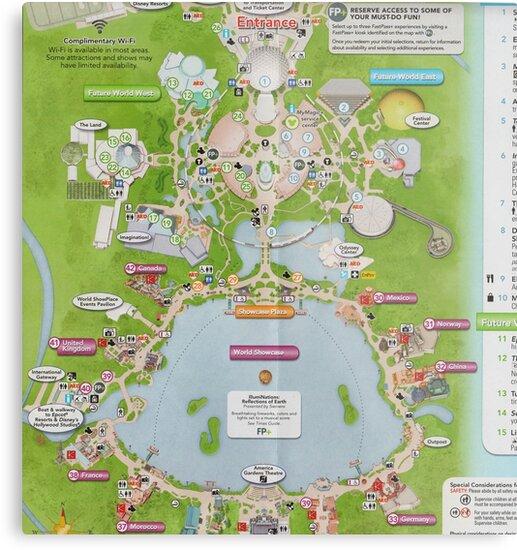Epcot Center Map \