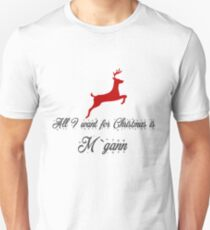 All I want for Christmas is M'gann-Supergirl T-Shirt