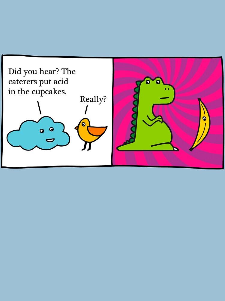 Dinosaur vs Banana by themaninblue