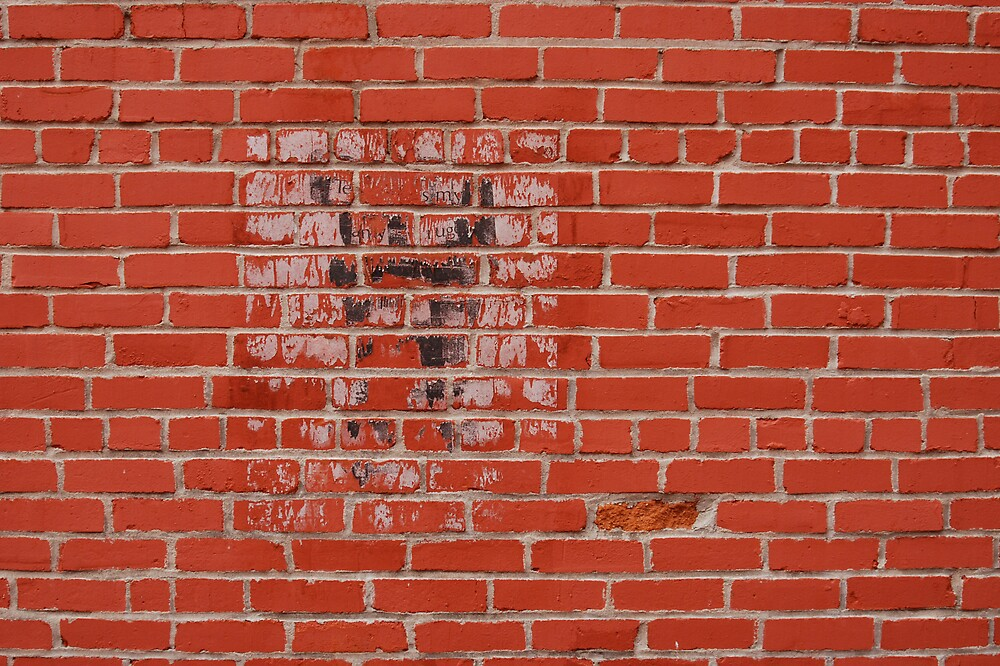 REd Brick Wall by Robert Baker