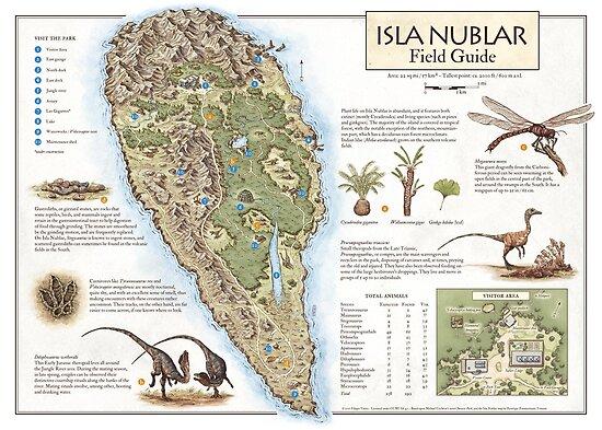 Isla Nublar Field Guide - Jurassic Park map by The Last Mapmaker  - Filippo Vanzo