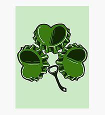 SHAMROCK BEERTOP- Funny Irish Drink Design  Photographic Print