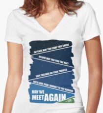 May We Meet Again Women's Fitted V-Neck T-Shirt